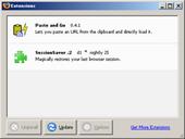 Firefox Extension Dialog